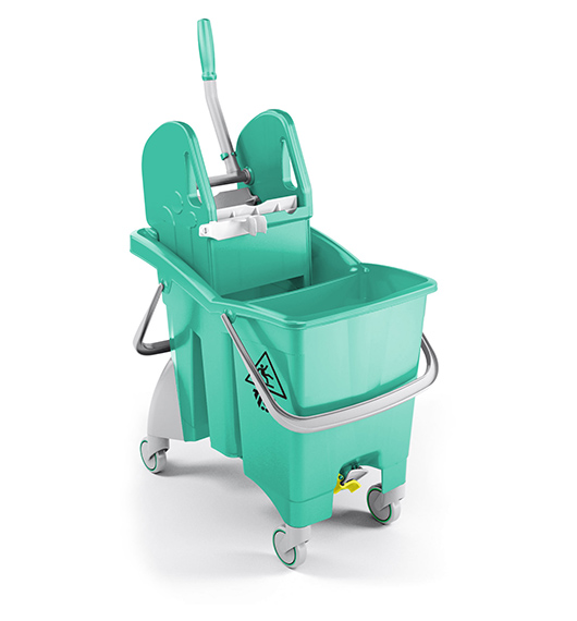 Single Bucket Trolley Partition Action Pro 30L (Green) supplier in qatar