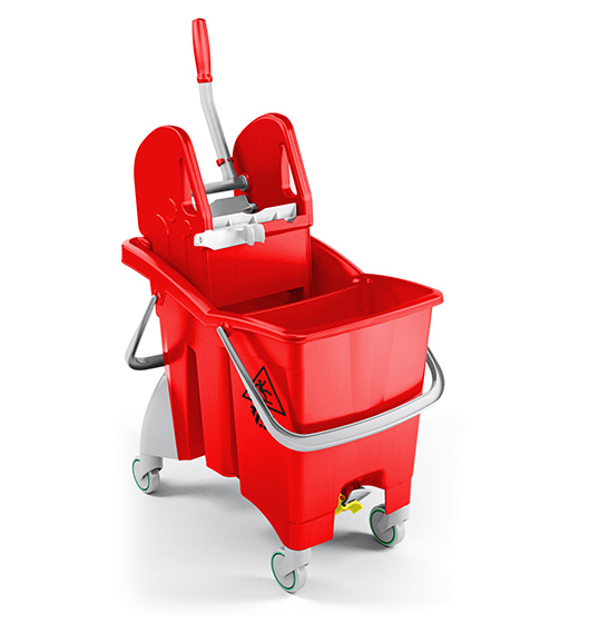 Single Bucket Trolley Partition Action Pro 30L (Red) supplier in qatar