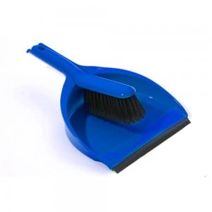 dust pan brush blue